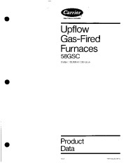 Carrier 58GSC 1PD Gas Furnace Owners Manual page 1