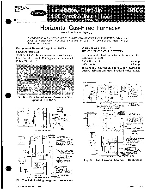 Carrier 58eg 1sic Gas Furnace Owners Manual