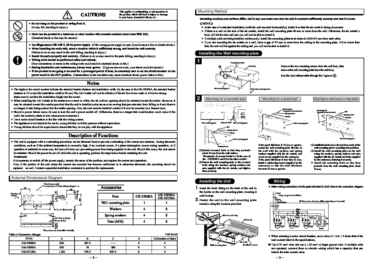 #676764 Mitsubishi GK 35 GK GK 3506SA GK 3509SA GK 3512SA Air  Brand New 7781 Air Conditioner Installation Guide images with 1191x842 px on helpvideos.info - Air Conditioners, Air Coolers and more