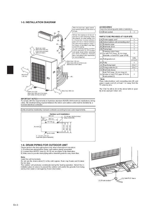 mitsubishi mxz 6c120va air conditioner installation manual. Black Bedroom Furniture Sets. Home Design Ideas