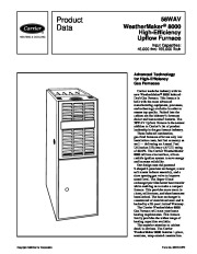 Carrier 58WAV 6PD Gas Furnace Owners Manual page 1