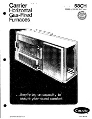 Carrier 58CH 6P Gas Furnace Owners Manual page 1