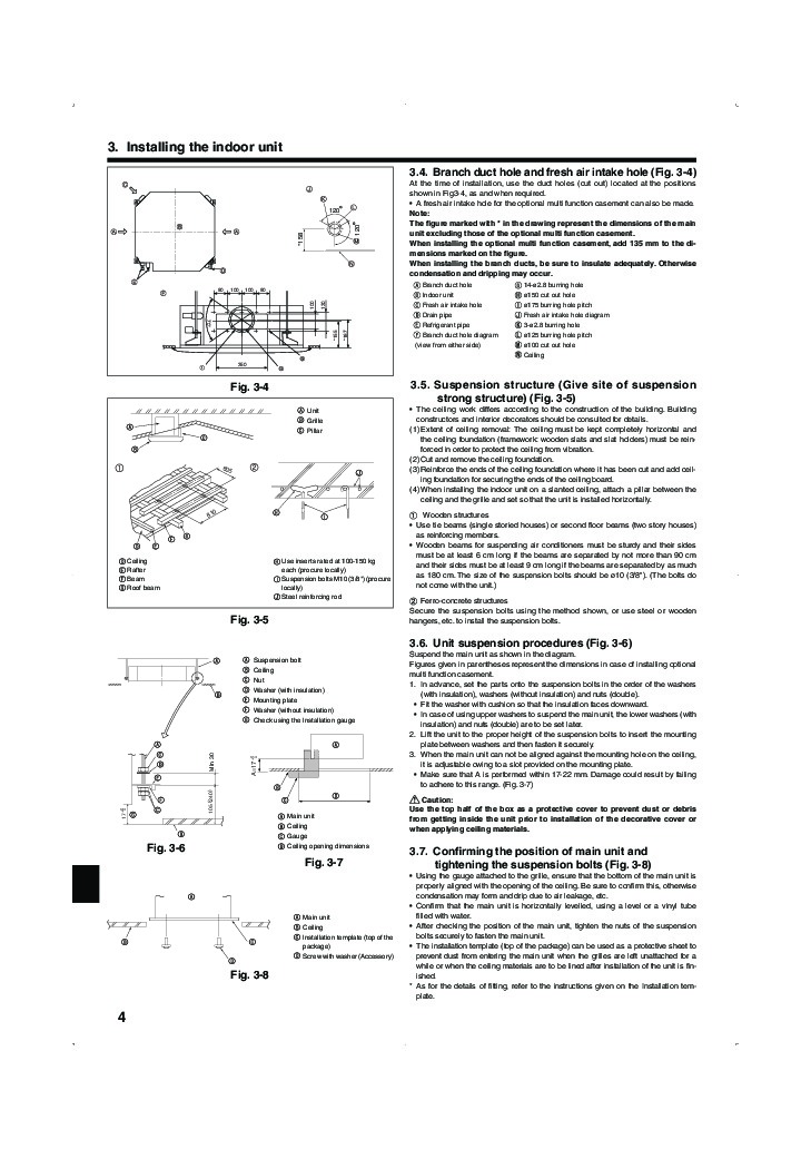 Mitsubishi slim manual for Slim jim air conditioner