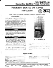Carrier 58DP _DR 1SI Gas Furnace Owners Manual page 1