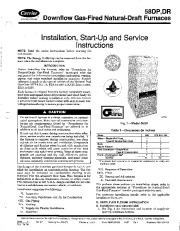 Carrier 58DP _DR 2SI Gas Furnace Owners Manual page 1