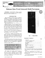 Carrier 58SS 2SI Gas Furnace Owners Manual page 1