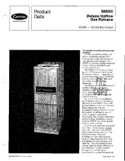 Carrier 58SXC 1PD Gas Furnace Owners Manual page 1