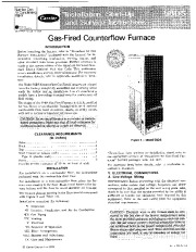 Carrier 58DS 2SI Gas Furnace Owners Manual page 1