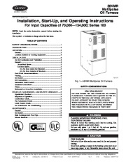 Carrier 58VMR 2SI Gas Furnace Owners Manual page 1
