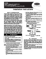 Carrier 24abb 1si Heat Air Conditioner Manual page 1
