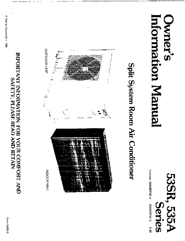 Manual for carrier ultima 53