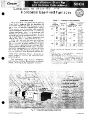 Carrier 58CH 6SI Gas Furnace Owners Manual page 1