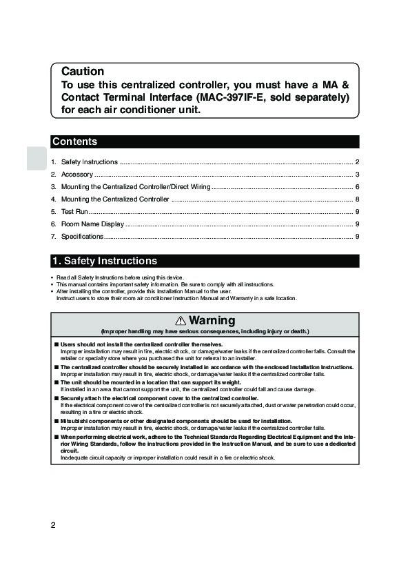 Mitsubishi mac 821sc e remote controller air conditioner mitsubishi mac 821sc e remote controller air conditioner installation manual publicscrutiny Images