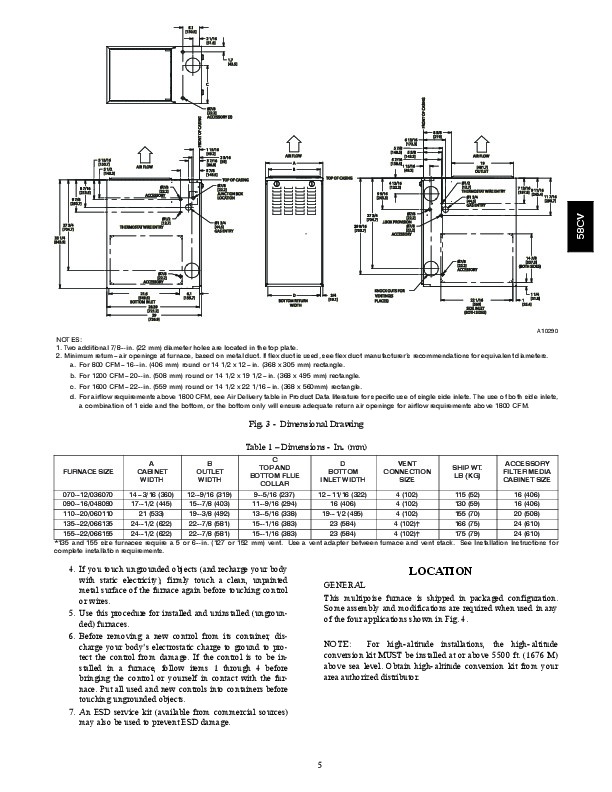 carrier 58cva 58cvx 11si gas furnace owners manual page 5