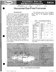 Carrier 58CH 4SI Gas Furnace Owners Manual page 1