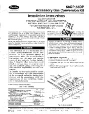 Carrier 58DP 58GP 2SI Gas Furnace Owners Manual page 1