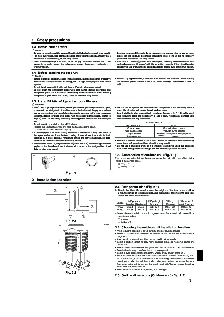 conditioner mxz slim owners air mr mitsubishi installation manual page pea