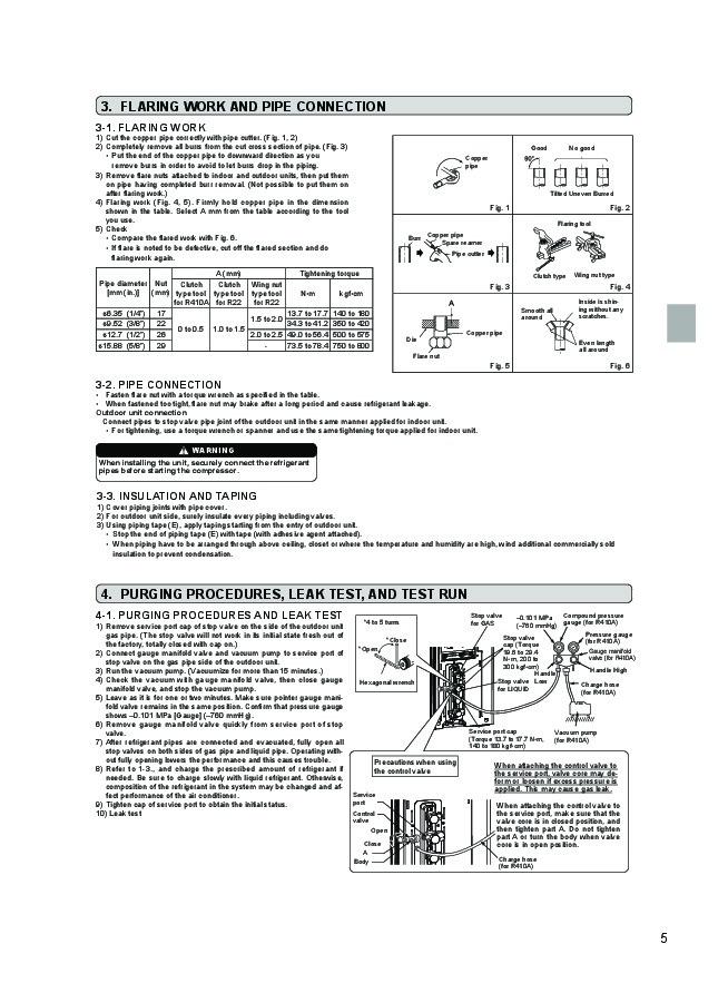mitsubishi mr slim mxz 2b52va air conditioner installation manual. Black Bedroom Furniture Sets. Home Design Ideas