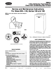 Carrier 58MCA 7SM Gas Furnace Owners Manual page 1