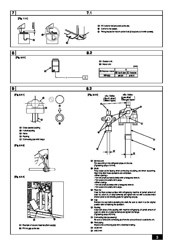 Mitsubishi mr slim puhz rp250yhm a air conditioner installation manual.