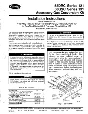 Carrier 58DRC 58GSC 4SI Gas Furnace Owners Manual page 1