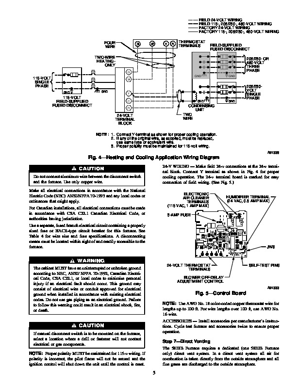 Carrier furnace manual Reset Location