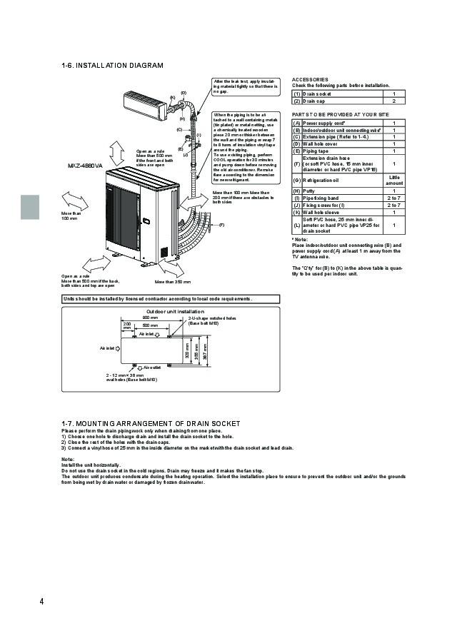 mitsubishi mr slim mxz 4b80va mxz 5b100va air conditioner