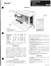 Carrier 58CH 3P Gas Furnace Owners Manual page 1