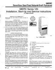 Carrier 58DRC 5SI Gas Furnace Owners Manual page 1