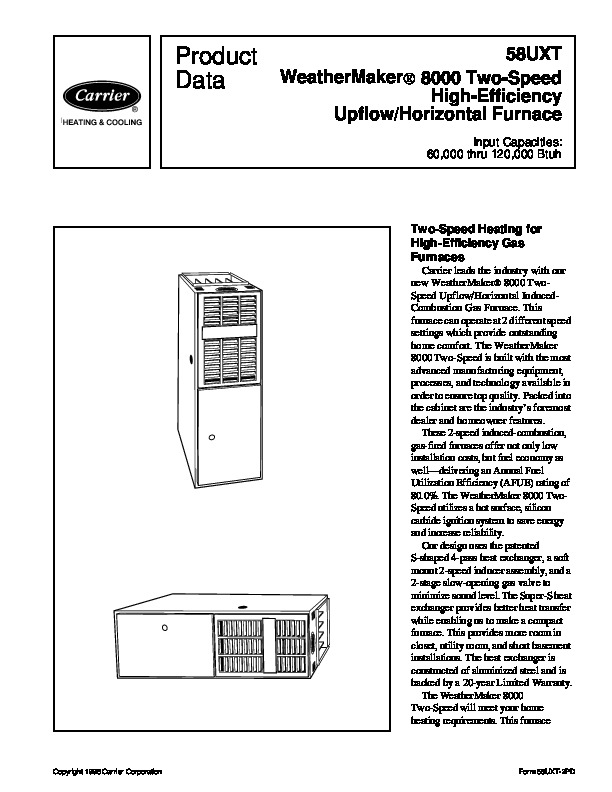carrier 58uxt 2pd gas furnace owners manual rh hvac needmanual com carrier owner manual for model 38lvq123a-c carrier owner manual air handler fx4d