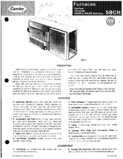 Carrier 58CH 4P Gas Furnace Owners Manual page 1