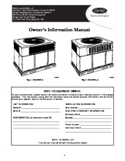 Carrier 50es Vl 01 Heat Air Conditioner Manual page 1