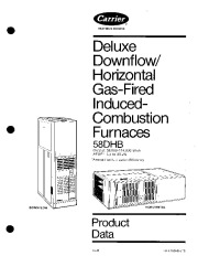 Carrier 58DHB 2PD Gas Furnace Owners Manual page 1