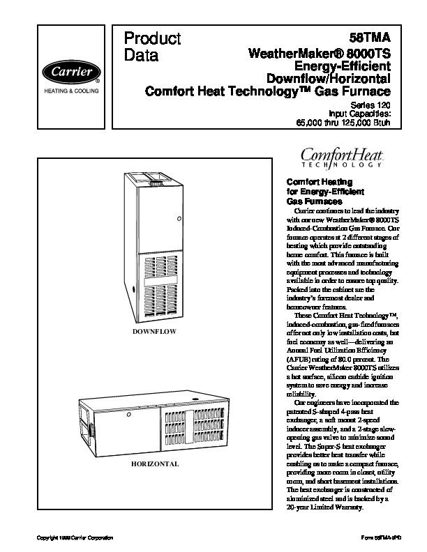 Carrier weathermaker 8000ts repair manual