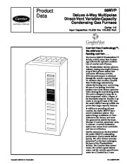 Carrier 58MVP 8PD Gas Furnace Owners Manual page 1