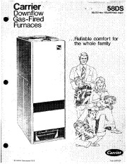Carrier 58DS 2P Gas Furnace Owners Manual page 1
