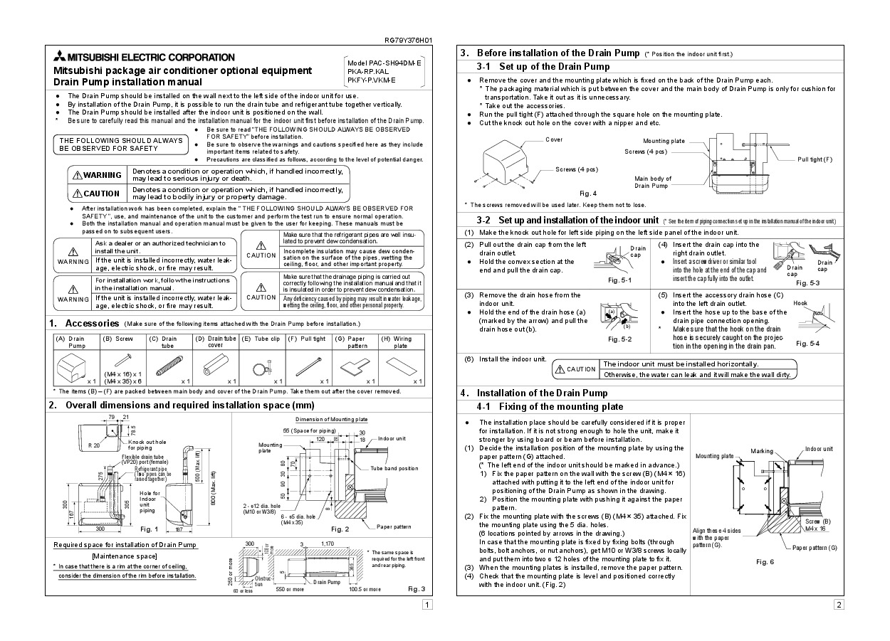 ame of each part reparation before operation 1 outdoor unit mitsubishi hvac manuals mitsubishi mr slim manual