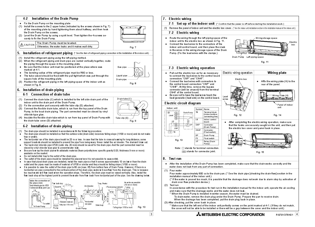 mitsubishi pka a36ka4 installation manual