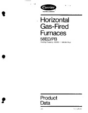 Carrier 58PB PD Gas Furnace Owners Manual page 1