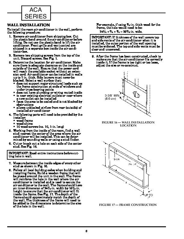 Carrier 73aca 2si Heat Air Conditioner Manual Page 8