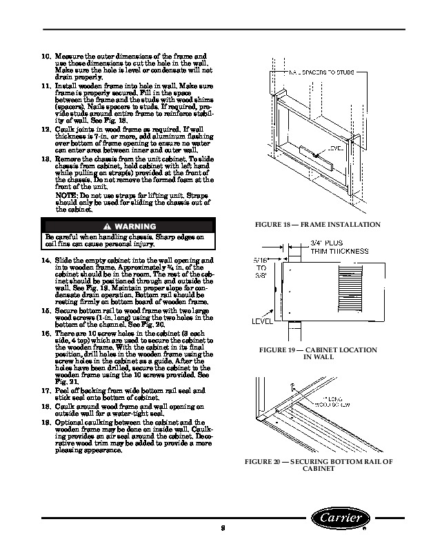 Carrier 73aca 2si Heat Air Conditioner Manual Page 9