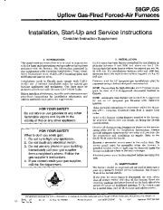 Carrier 58GP 58GS 2SIC Gas Furnace Owners Manual page 1