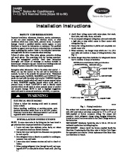 Carrier 24abr 3si Heat Air Conditioner Manual page 1