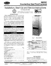 Carrier 58DRC 1SI Gas Furnace Owners Manual page 1