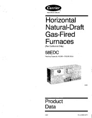 Carrier 58EDC 2PD Gas Furnace Owners Manual page 1