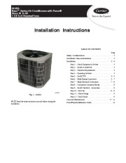 Carrier 24aba 1si Heat Air Conditioner Manual page 1